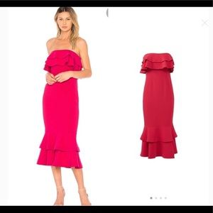 Cinq a Sept Ezana Dress midi pink crepe 6